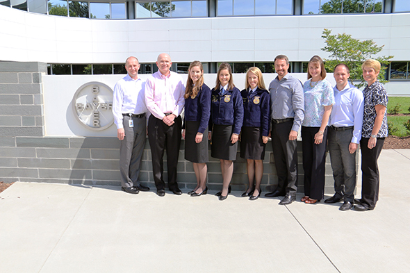 Bayer Crop Science leadership pose with FFA officers